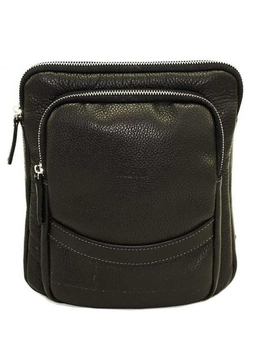 Черная кожаная мужская сумка через плечо Vatto MK-12.2