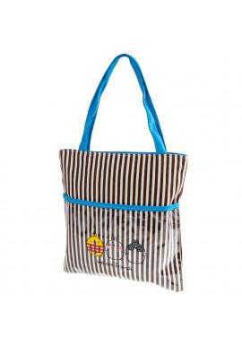 Фото Женская сумка в полоску VF 3DETAL1814-2