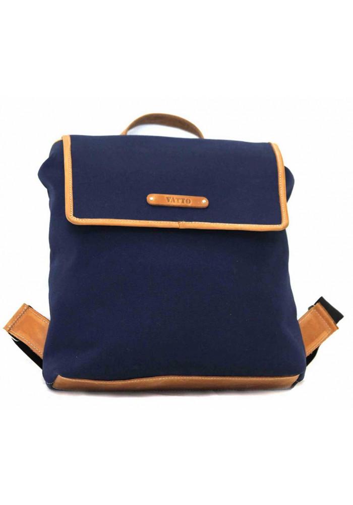 Синий молодежный рюкзак Vatto с рыжими вставками