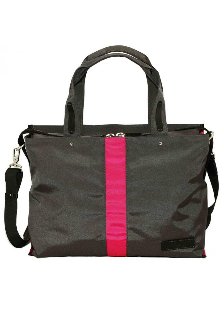 Дорожная женская сумка Vatto с малиновой вставкой