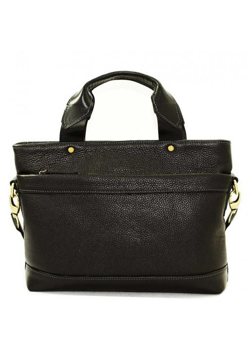 Мужская кожаная сумка черная Vatto