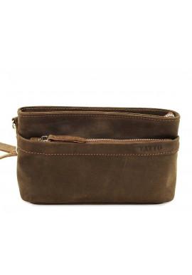 Фото Мужская кожаная сумка через плечо коричневая винтажная Vatto