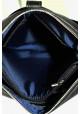 Модная мужская сумка из кожи через плечо Vatto черная