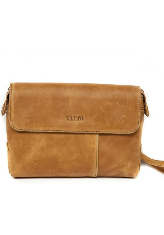 Клатч мужской кожаный Vatto рыжий
