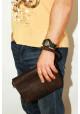 Клатч мужской кожаный Vatto коричневый глянцевый, фото №5 - интернет магазин stunner.com.ua