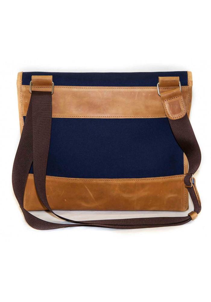 51a51b90e882 ... Сумка- мессенджер мужская тканевая Vatto синяя с коричневыми вставками,  фото №3 - интернет ...
