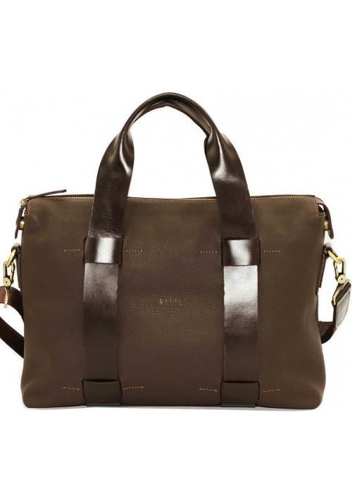 Большая мужская кожаная сумка Vatto коричневый флотар