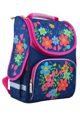 Фото Рюкзак школьный каркасный Smart PG-11 Flowers blue 554464