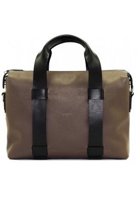 Фото Большая мужская кожаная сумка Vatto серая