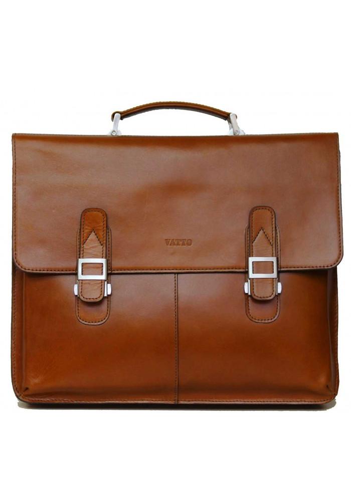 Портфель мужской кожаный Vatto из рыжей кожи
