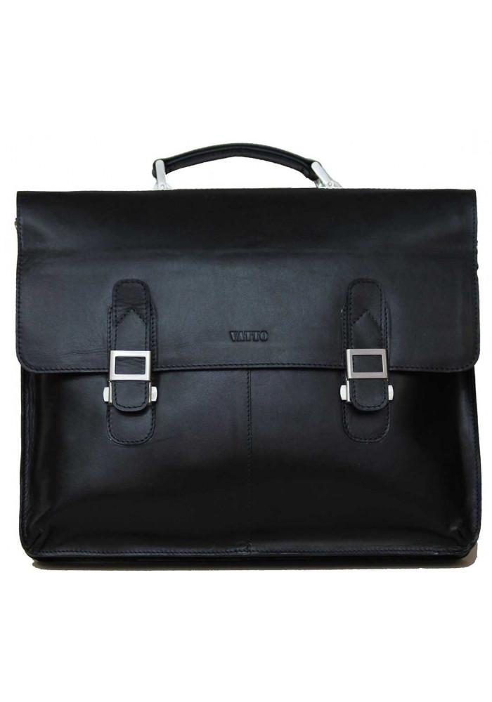 Портфель мужской кожаный Vatto из черной кожи