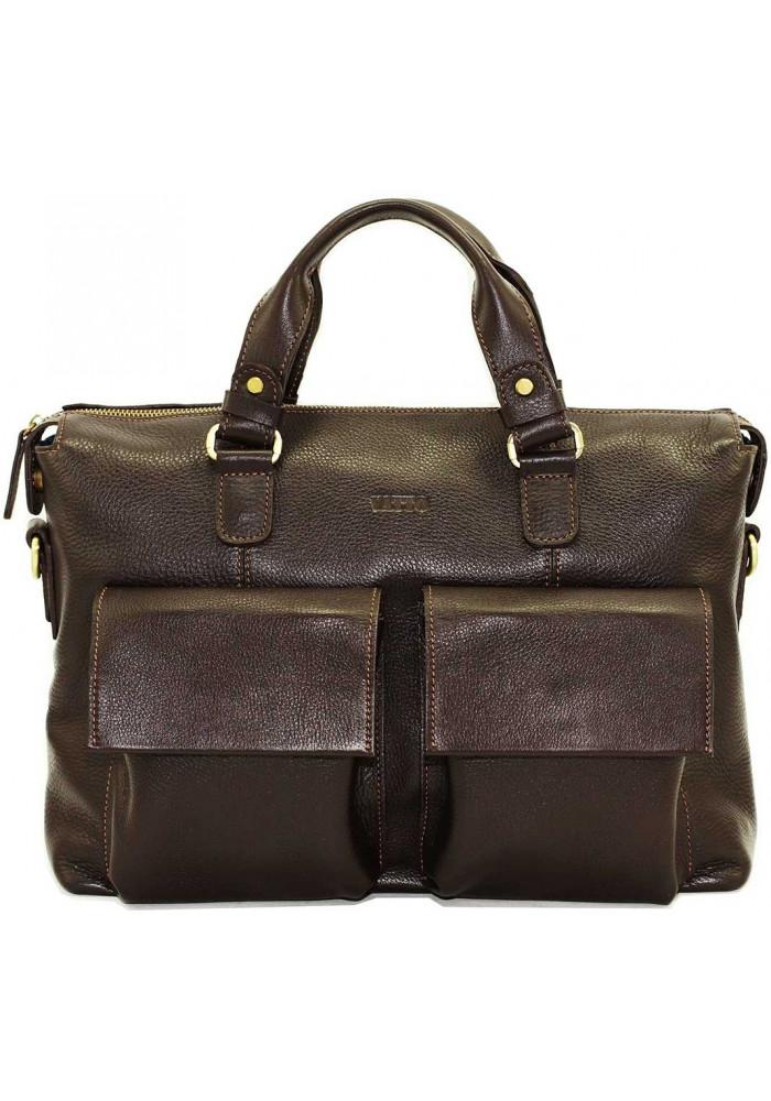 Модная мужская кожаная сумка Vatto из коричневый кожи