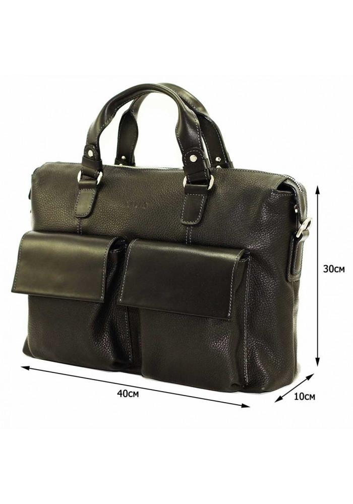 d3637829639a Модная мужская кожаная сумка Vatto из черной кожи флотар, фото №2 -  интернет магазин ...