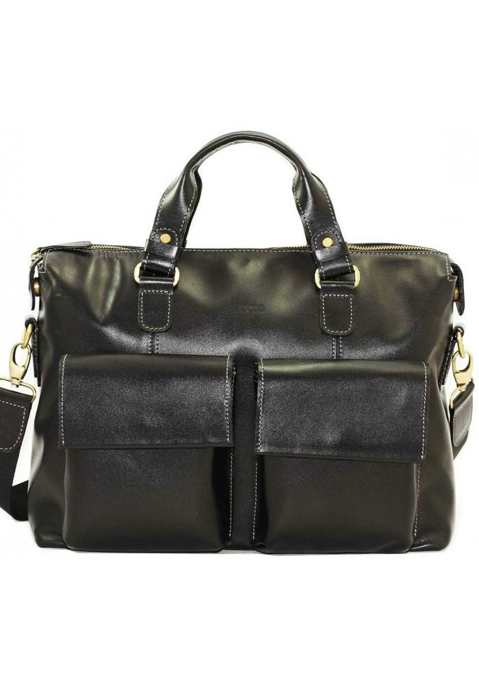 Фото Модная мужская кожаная сумка Vatto из черной кожи флотар