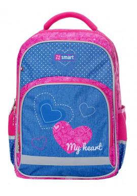 Фото Рюкзак для девочки школьный SMART SM-04 My heart 558179