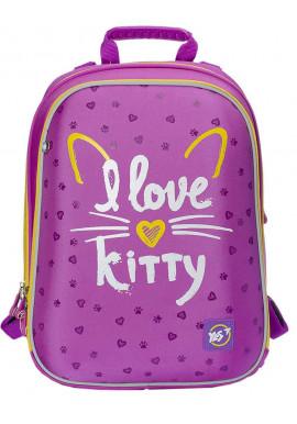 Фото Рюкзак для школы каркасный YES H-12 I love kitty 558014