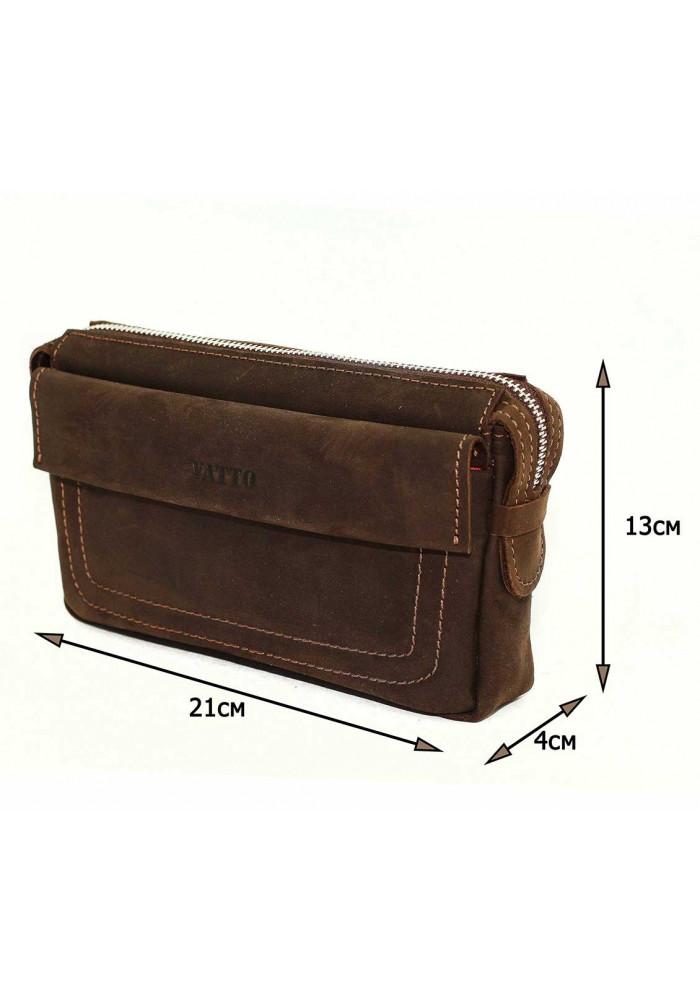 ea77d667cda1 ... Стильный мужской кожаный клатч Vatto коричневый, фото №2 - интернет  магазин stunner.com ...
