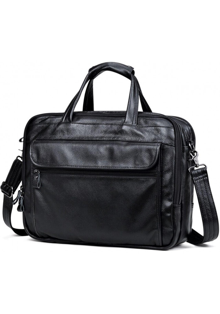 Фото Мужская кожаная сумка Tiding Bag A25F-9001А