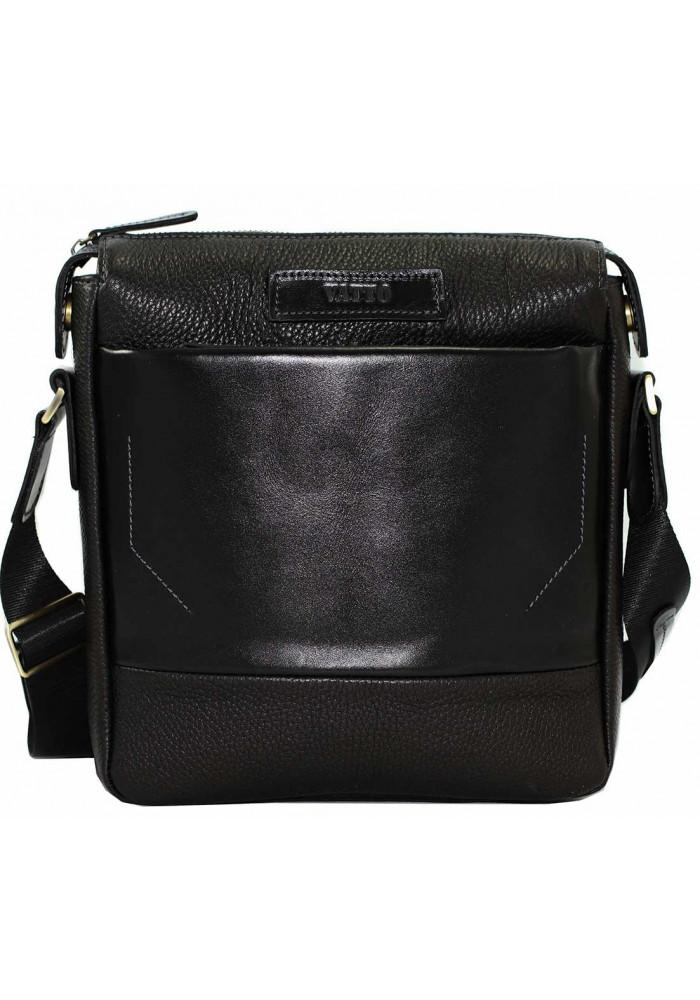 Модная мужская кожаная сумка Vatto коричневая