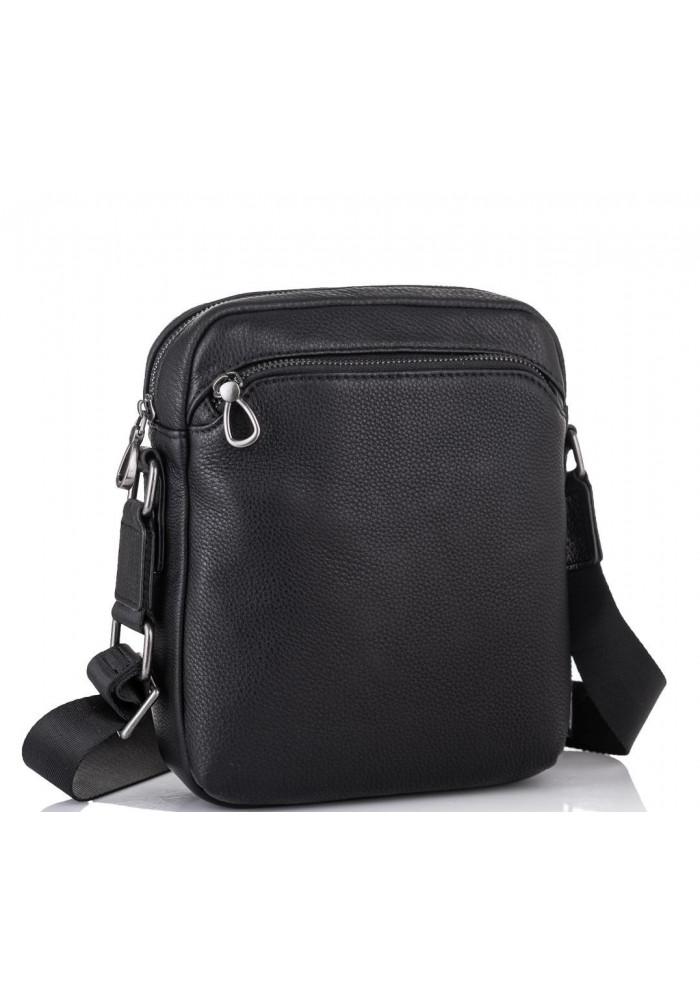 Фото Мужская кожаная сумка через плечо черная Tiding Bag SM8-9686-4А