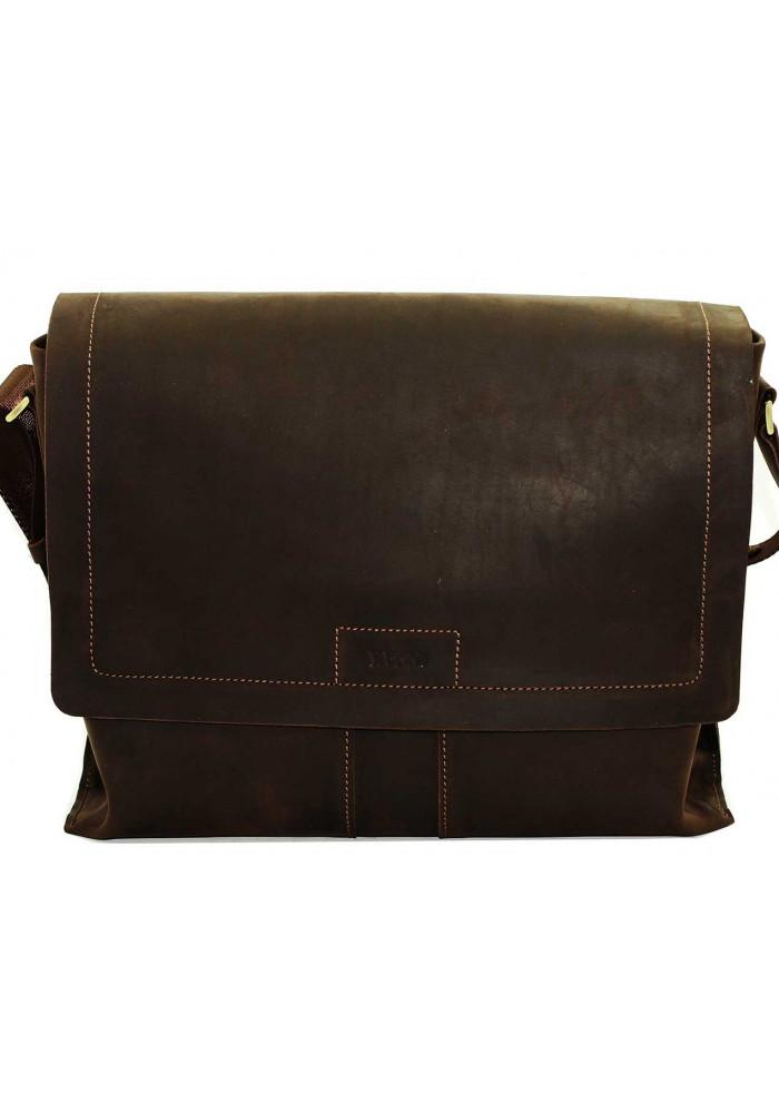 Модная сумка-мессенджер мужская кожаная Vatto коричневая