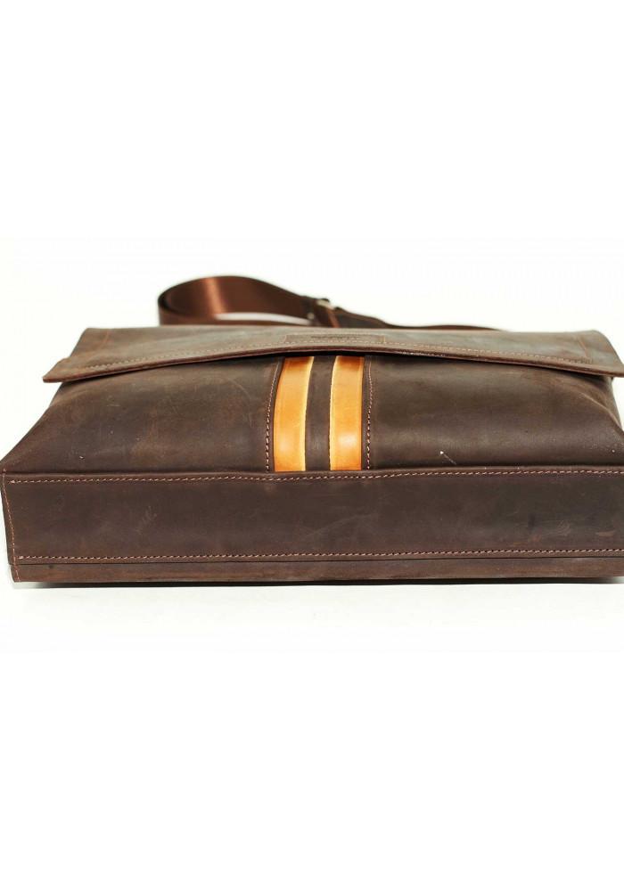 94371c71c3a5 ... Модная сумка-мессенджер мужская кожаная Vatto коричневая, фото №8 -  интернет магазин stunner ...