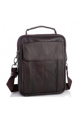 Фото Мужская кожаная сумка-барсетка коричневая HD Leather NM24-1079C