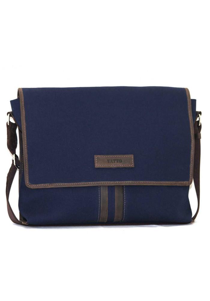 Модная сумка-мессенджер мужская из ткани Vatto синяя