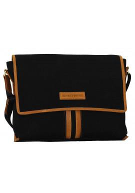 Фото Модная сумка-мессенджер мужская из ткани Vatto черная