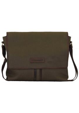 Фото Модная сумка-мессенджер мужская из ткани Vatto цвета хаки