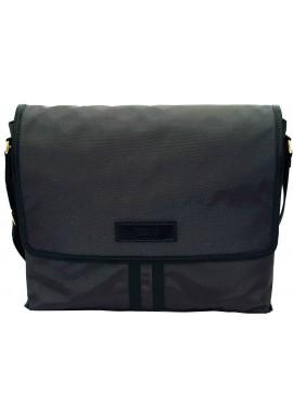 Фото Модная сумка-мессенджер мужская из ткани Vatto серая