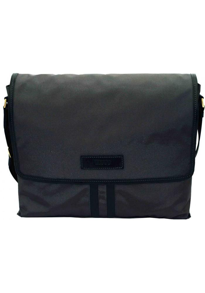 Модная сумка-мессенджер мужская из ткани Vatto серая