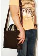 Сумка мужская кожаная с двумя ручками Vatto коричневая, фото №7 - интернет магазин stunner.com.ua