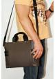 Сумка мужская кожаная с двумя ручками Vatto серая, фото №8 - интернет магазин stunner.com.ua
