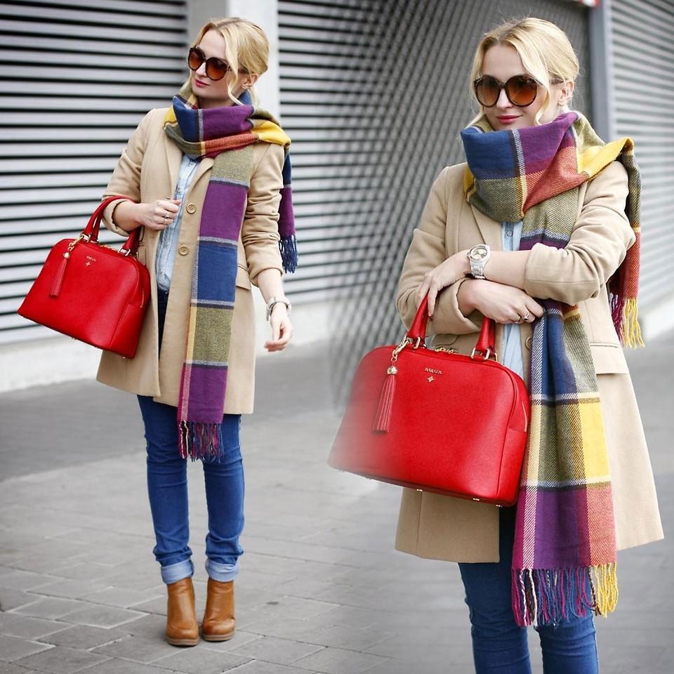 Перчатки, шарф и сумка - как комбиноровать