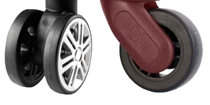 Виды колес у чемоданов